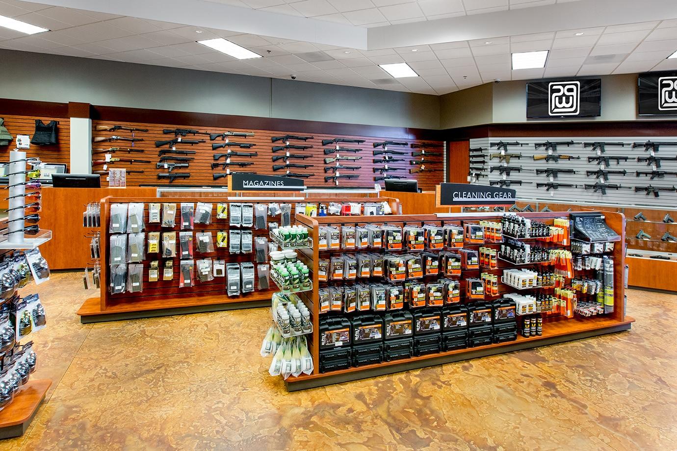 San Diego Gun Store Shelves